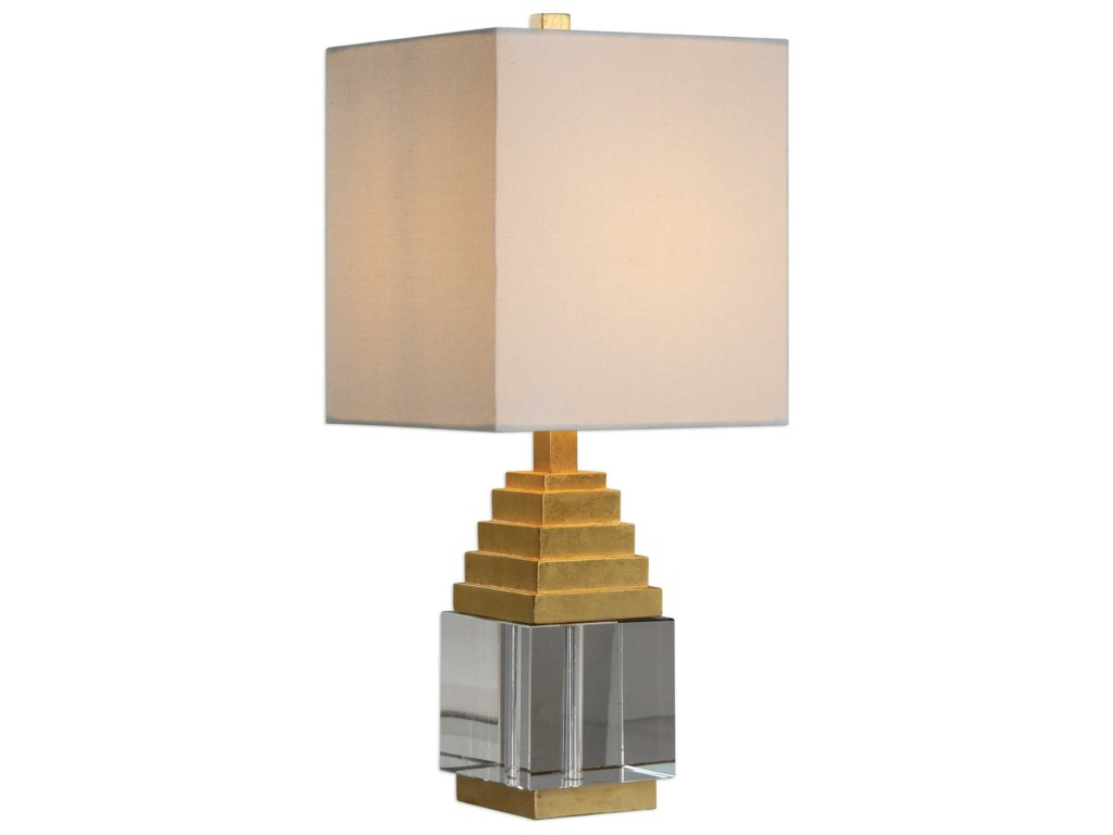 Uttermost Accent LampsAnubis Crystal Cube Lamp