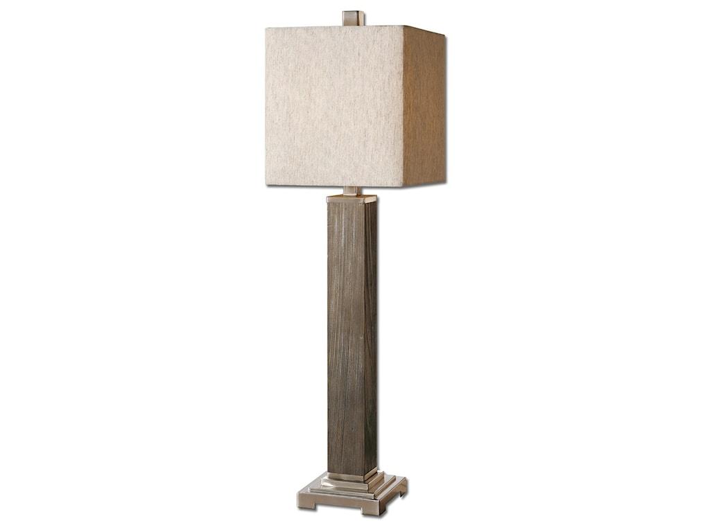 Uttermost Buffet Lamps Sandberg Wood Buffet Lamp | Houston's
