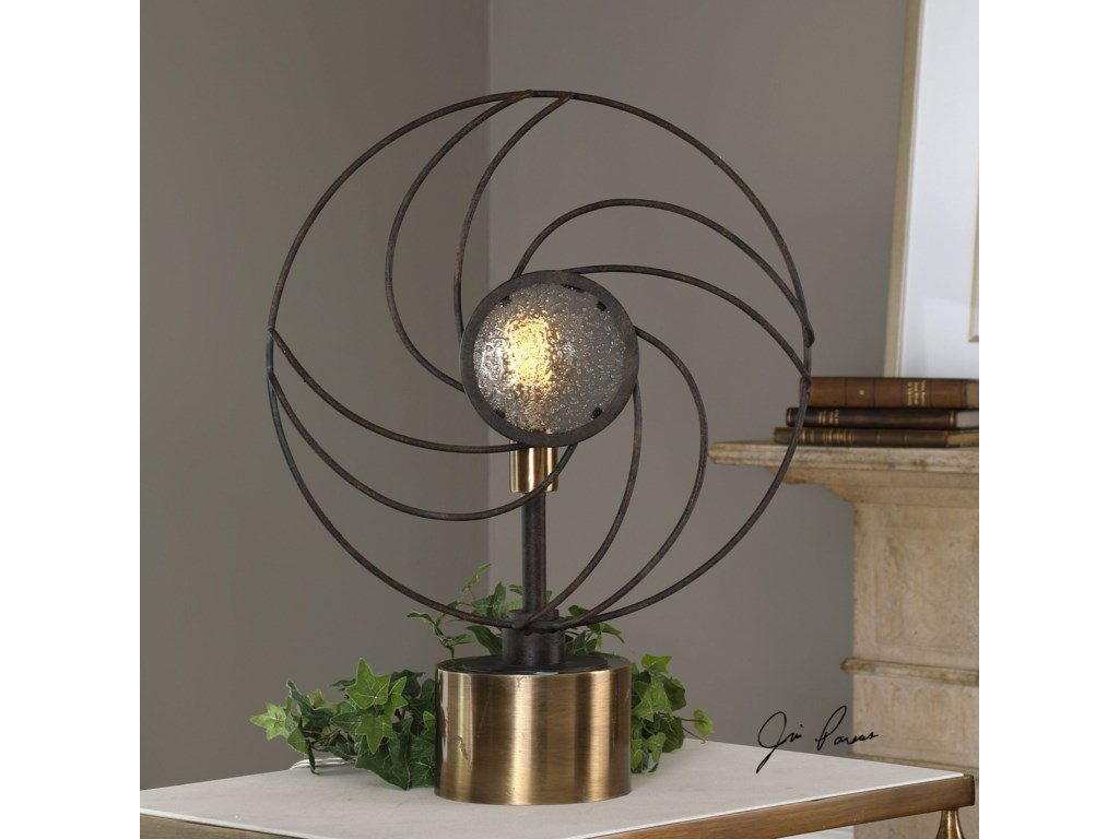 Uttermost Accent LampsVentilador Black Accent Lamp