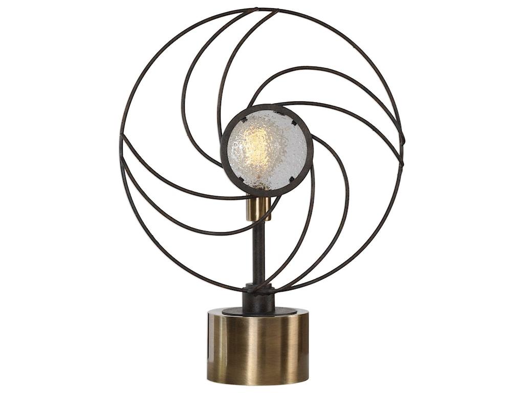Uttermost Accent LampsVentilador Black Accent Lamp