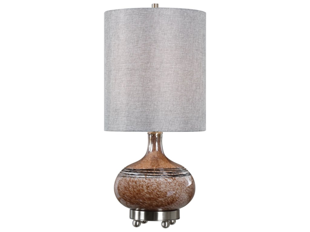Uttermost Accent LampsJudsonia Rust Glass Accent Lamp