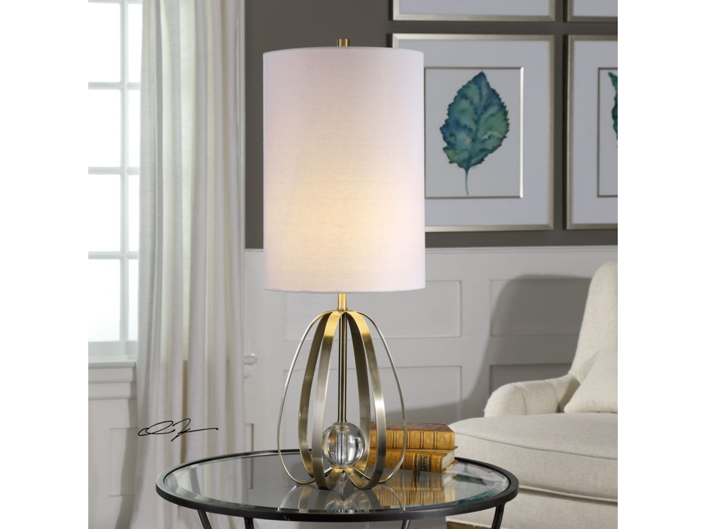 Uttermost Accent LampsAvola Nickel Bands Lamp