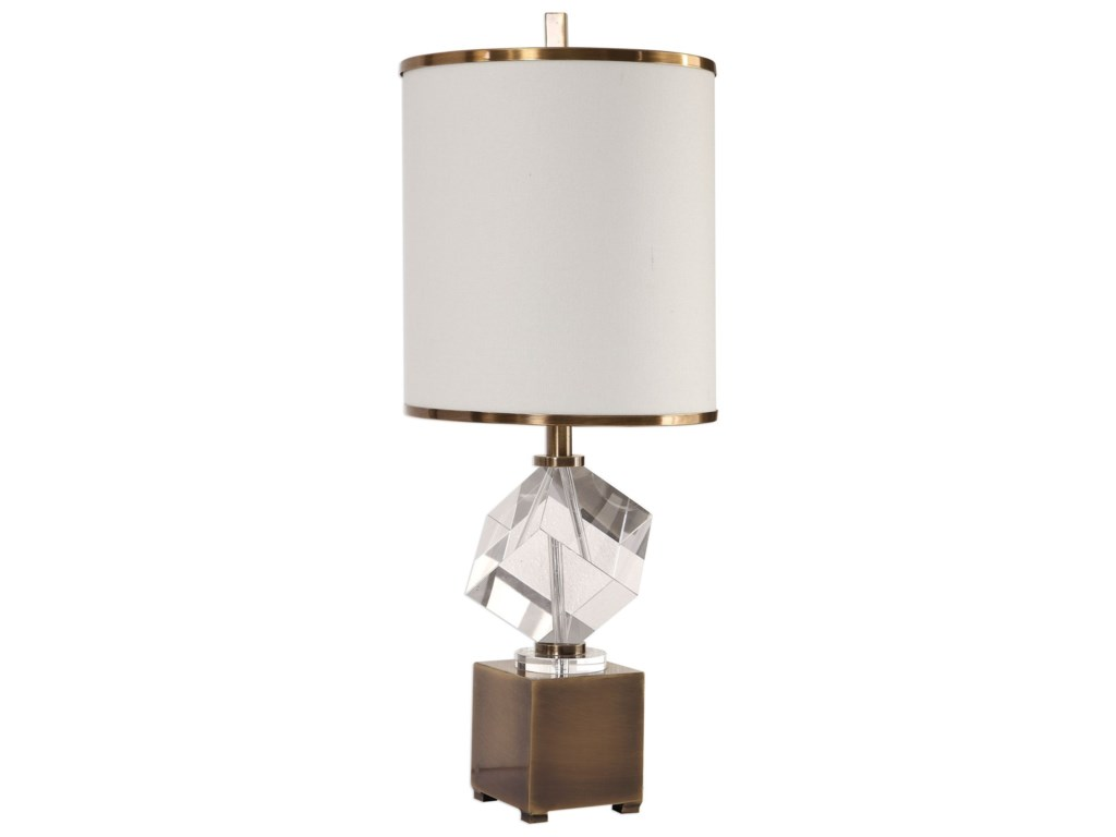 Uttermost Accent LampsCristino Crystal Cube Lamp