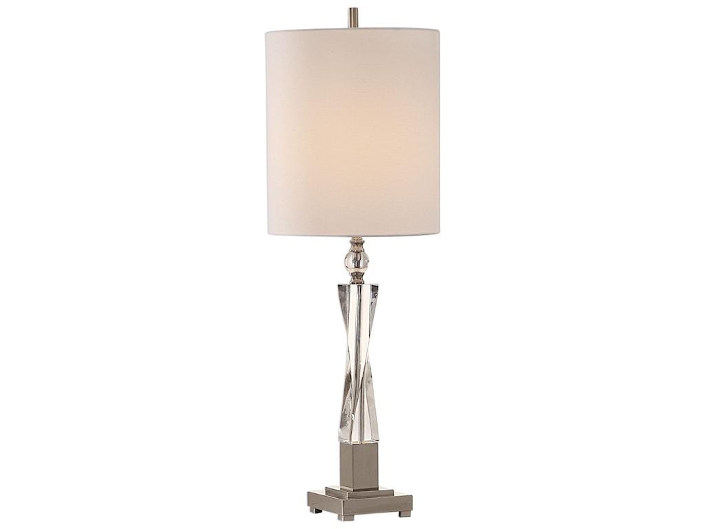 Uttermost Buffet LampsTwyla Twisted Crystal Lamp