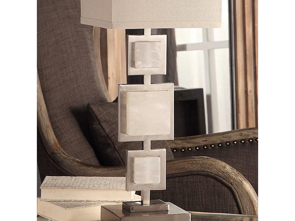 Uttermost Buffet LampsIdalgo Brushed Nickel Lamp