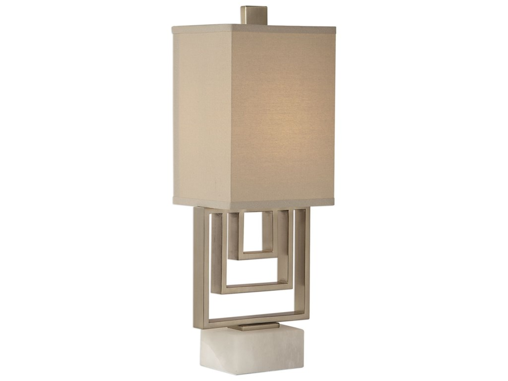 Uttermost Accent LampsMedora Brushed Nickel Lamp