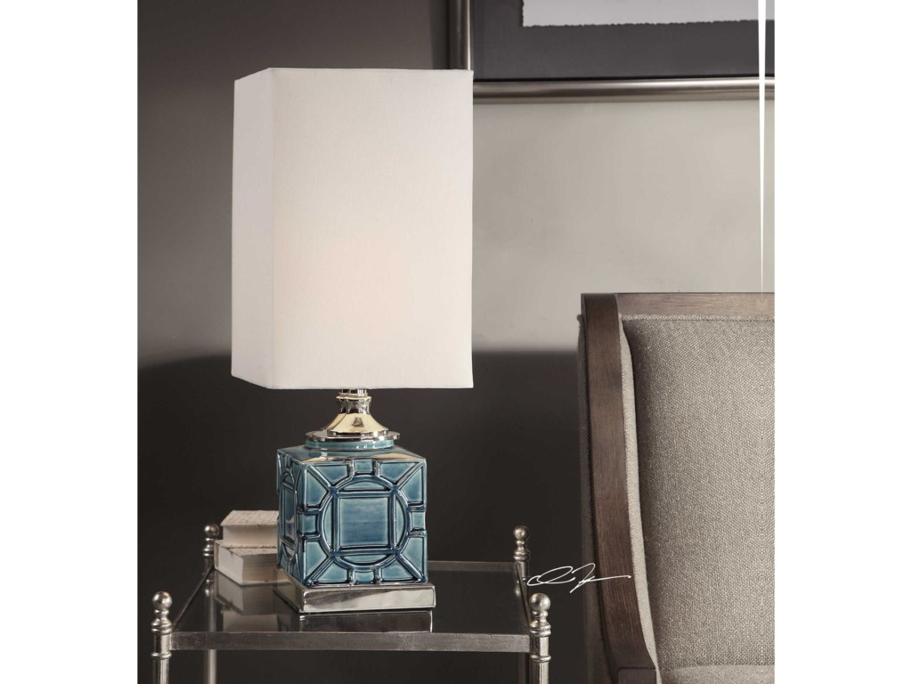 Uttermost Accent LampsPacorro Crackled Blue Lamp