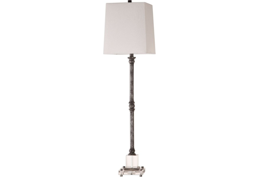 Buffet Lamps Teala Aged Black Lamp By Uttermost At Dunk Bright Furniture