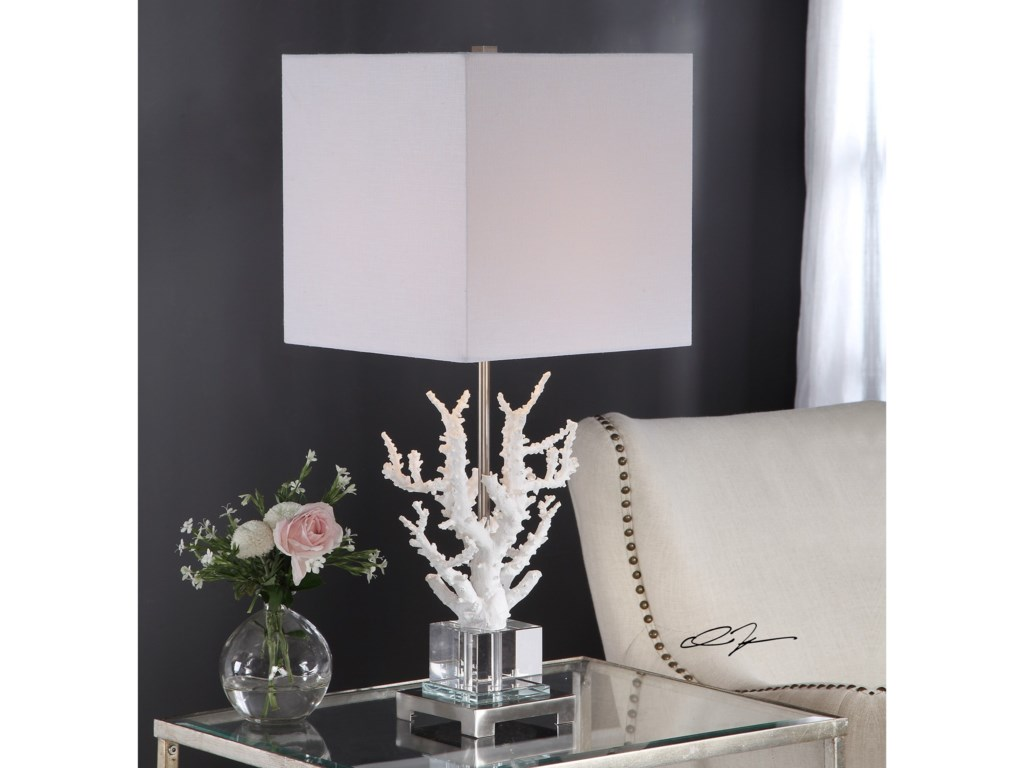 Uttermost Table LampsCorallo White Coral Table Lamp