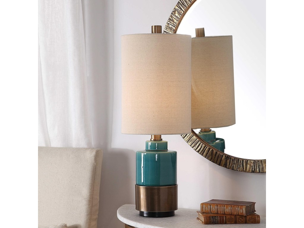 Uttermost Table LampsRema Turquoise Table Lamp