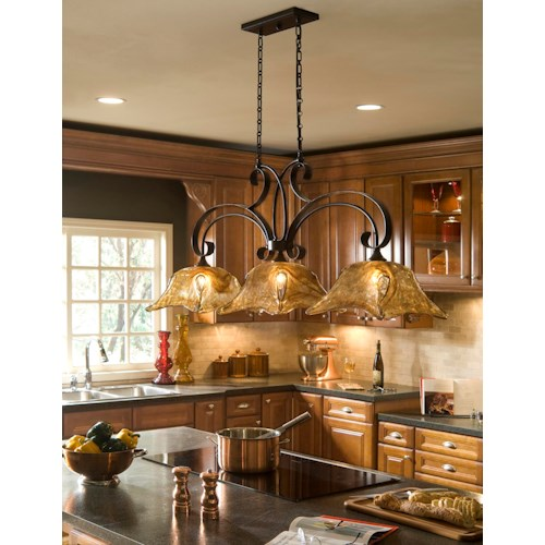 Uttermost Lighting Fixtures Vetraio 3 Light Kitchen Island