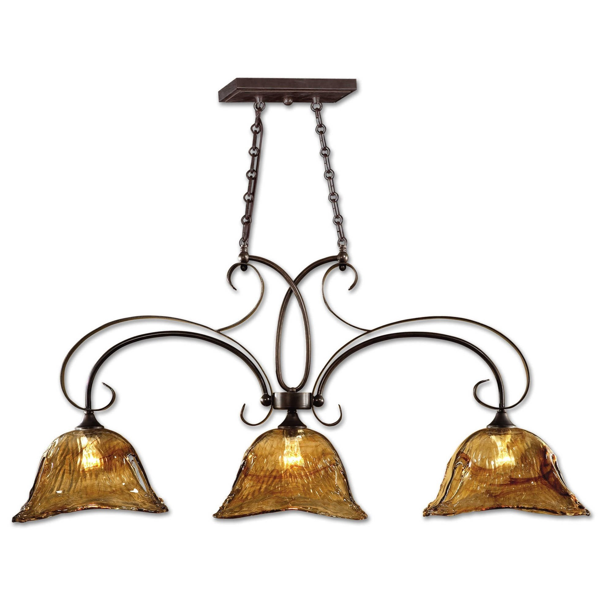 Uttermost Lighting Fixtures Pendant Lights Vetraio 3 Light Kitchen Island Wayside Furniture Pendant Lights Chandeliers