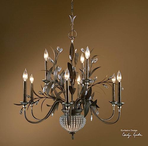 Uttermost Lighting Fixtures Cristal De Lisbon 9+2 Light Chandelier