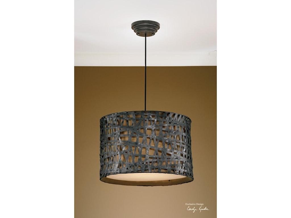 Uttermost lighting fixtures pendant lightsalita metal hanging shade