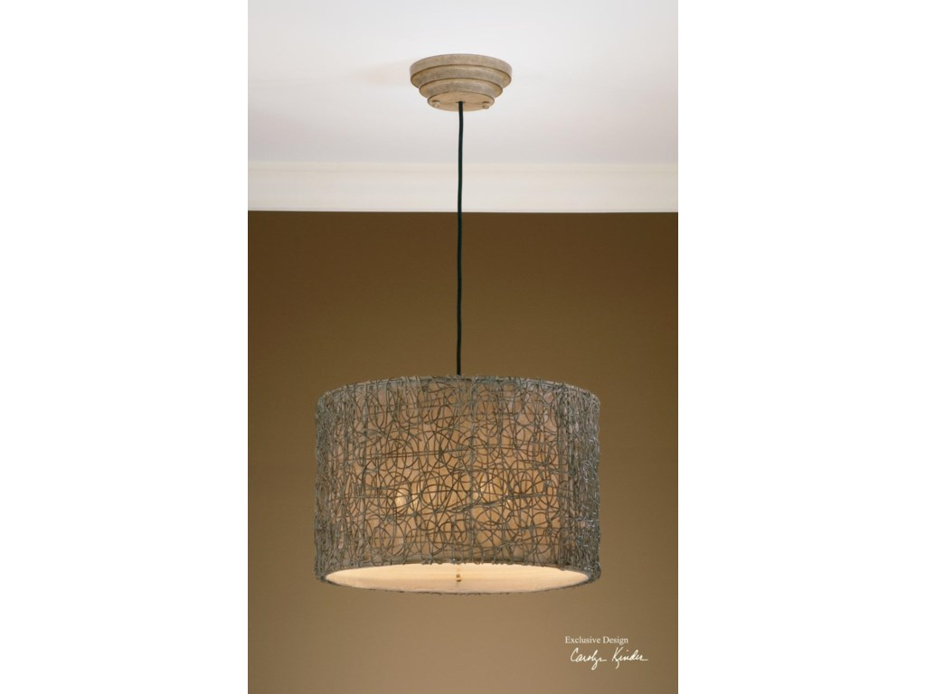 Lighting Fixtures Pendant Lights Knotted Rattan Light Hanging Shade By Uttermost At Houston S Yuma Furniture