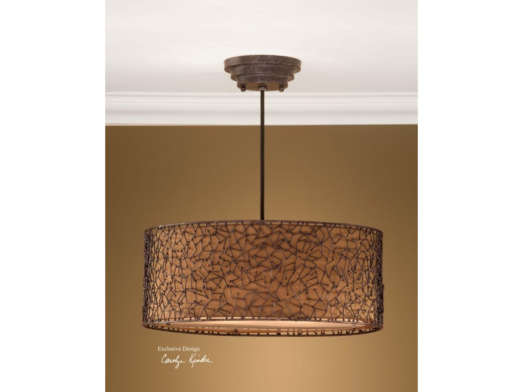 Uttermost lighting fixtures 21153 brandon 3 light hanging shade uttermost lighting fixturesbrandon 3 light hanging shade arubaitofo Images