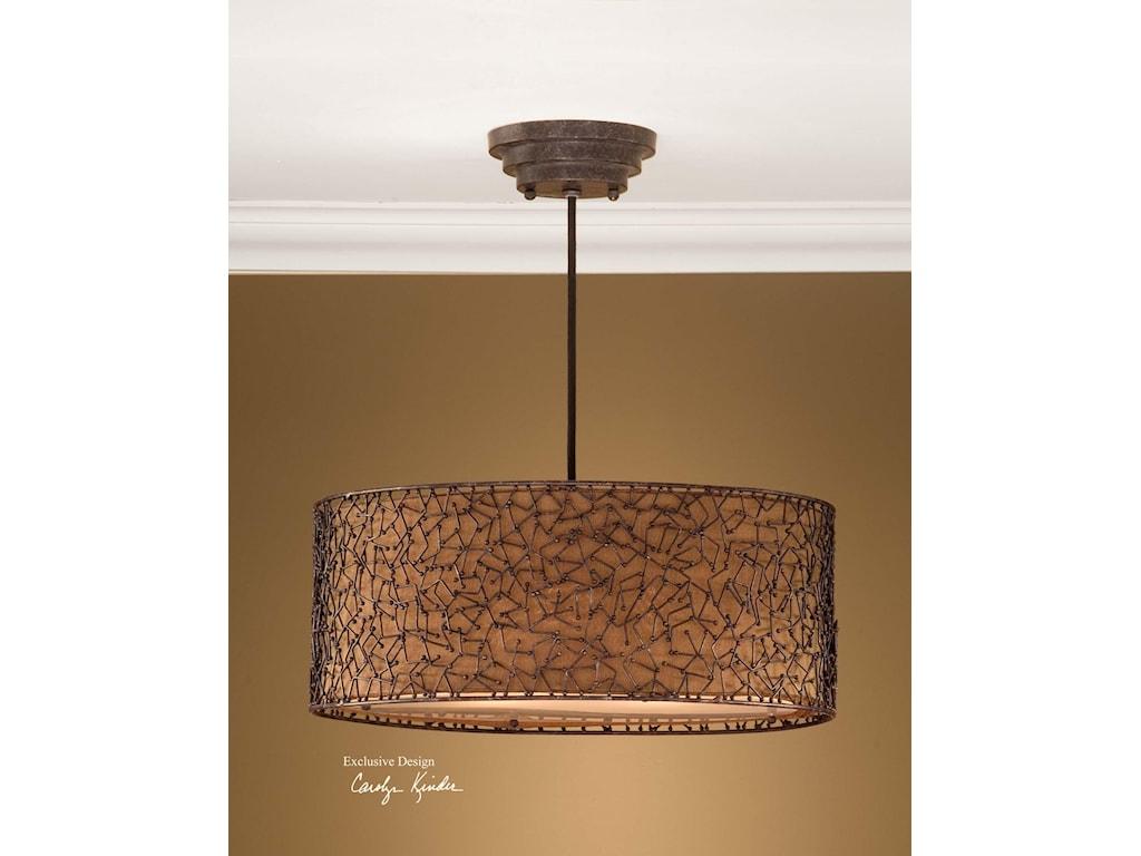 uttermost lighting fixturesbrandon 3 light hanging shade - Uttermost Lights