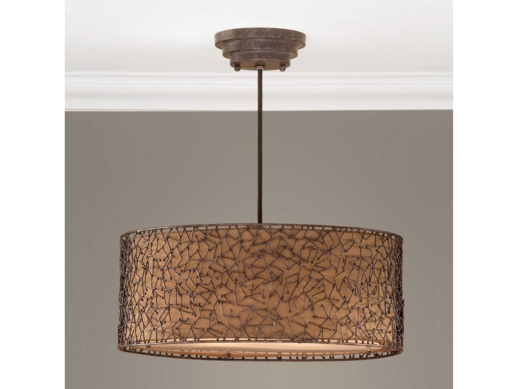 Uttermost Lighting Fixtures - Pendant LightsBrandon 3 Light Hanging Shade