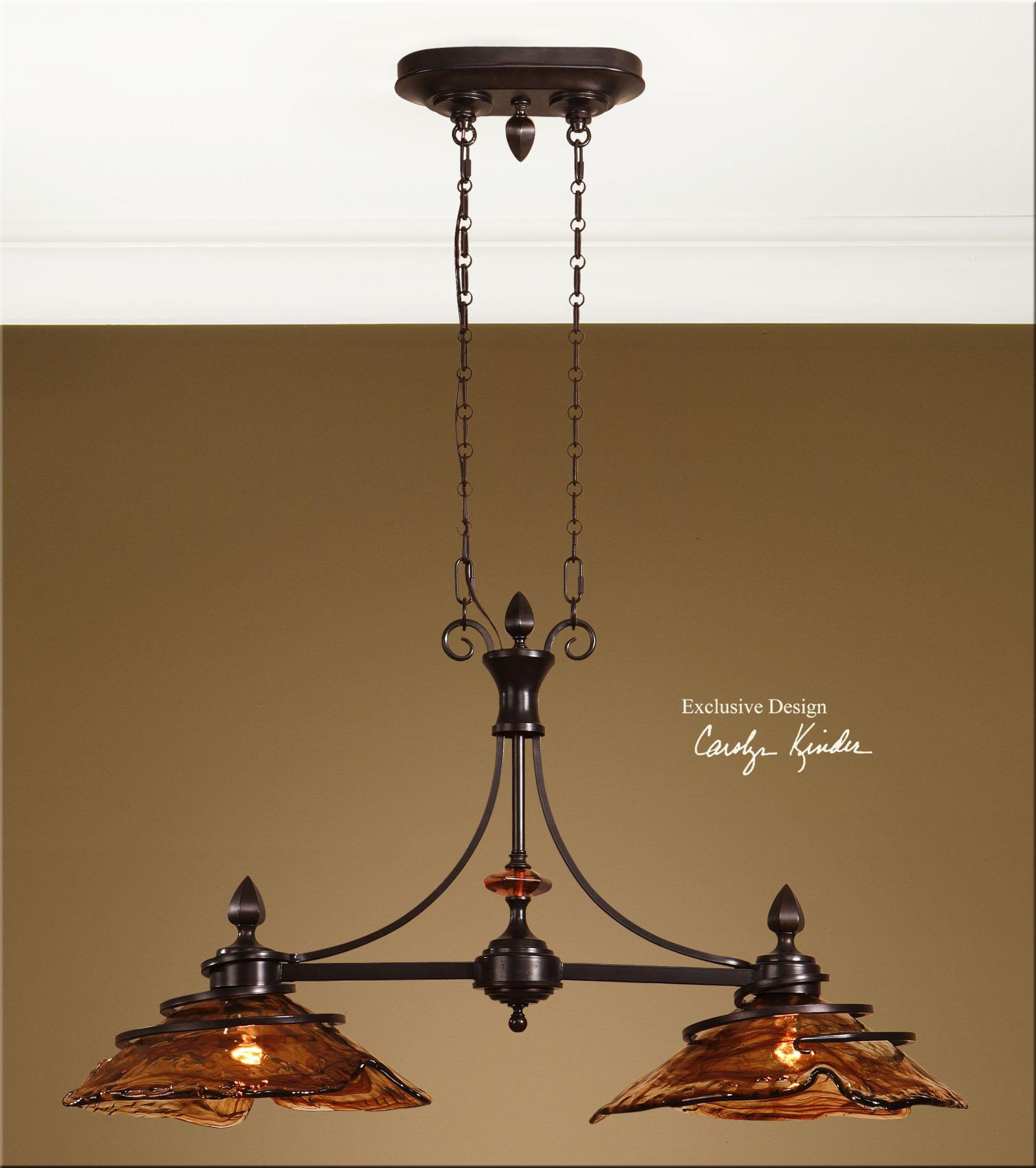 uttermost lighting fixtures vitalia 2 light kitchen island - Uttermost Lighting