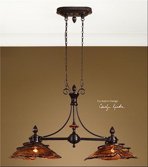 Uttermost Lighting Fixtures Vitalia 2 Light Kitchen Island