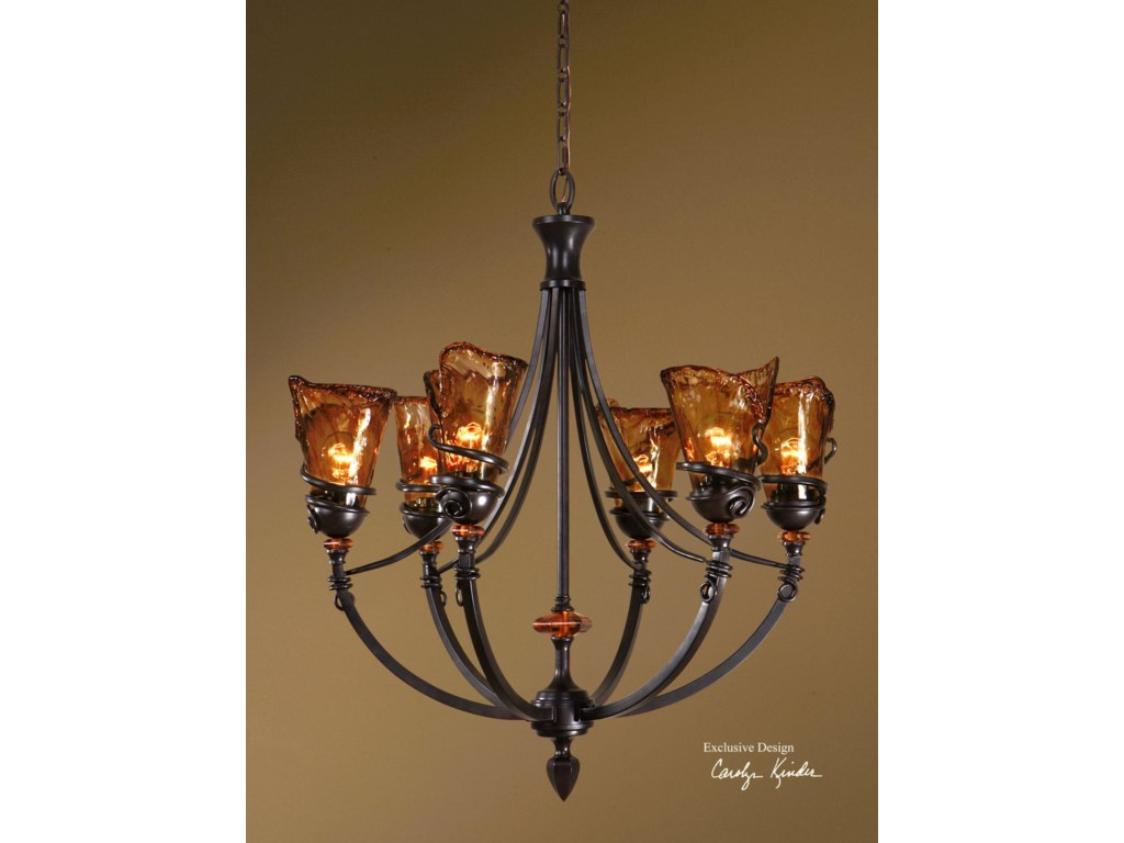 Uttermost Lighting Fixturesvitalia 6 Light Chandelier