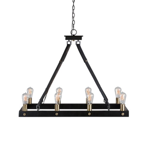 Uttermost Lighting Fixtures Marlow 8 Light Rectangle Chandelier