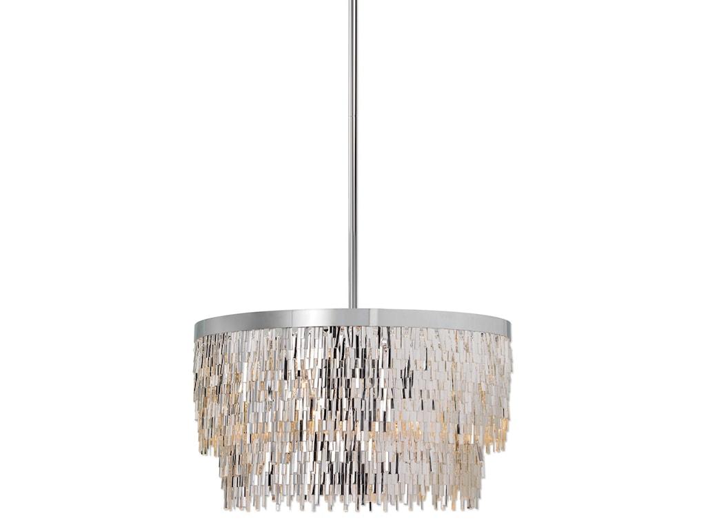 Uttermost Lighting Fixtures 21283 Millie 6 Light Chrome Pendant Dunk Bright Furniture Chandelier