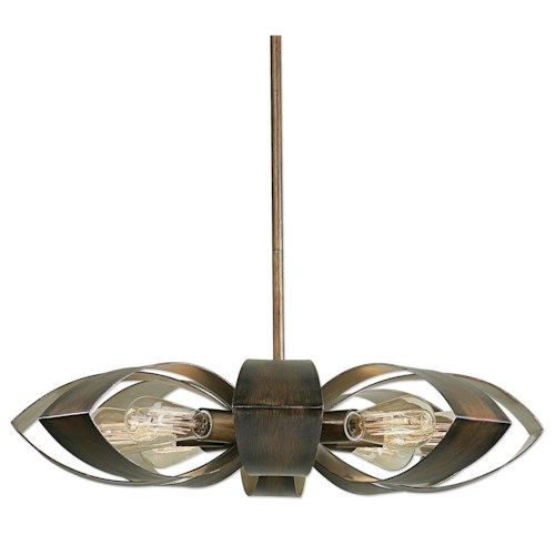 Uttermost Lighting Fixtures Daisy 8 Light Industrial Pendant