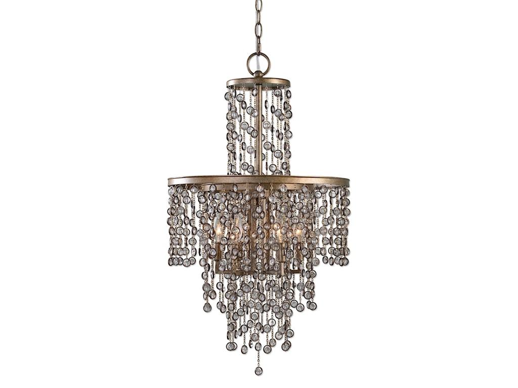 Uttermost lighting fixturesvalka 6 light crystal chandelier