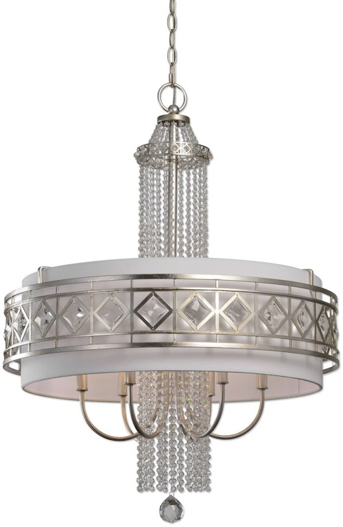 Uttermost Lighting Fixtures Tamela 6 Light Drum Chandelier