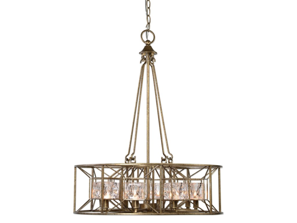 Lighting Fixtures Pendant Lights Ghiaccio 8 Light Swedish Iron By Uttermost At Hudson S Furniture