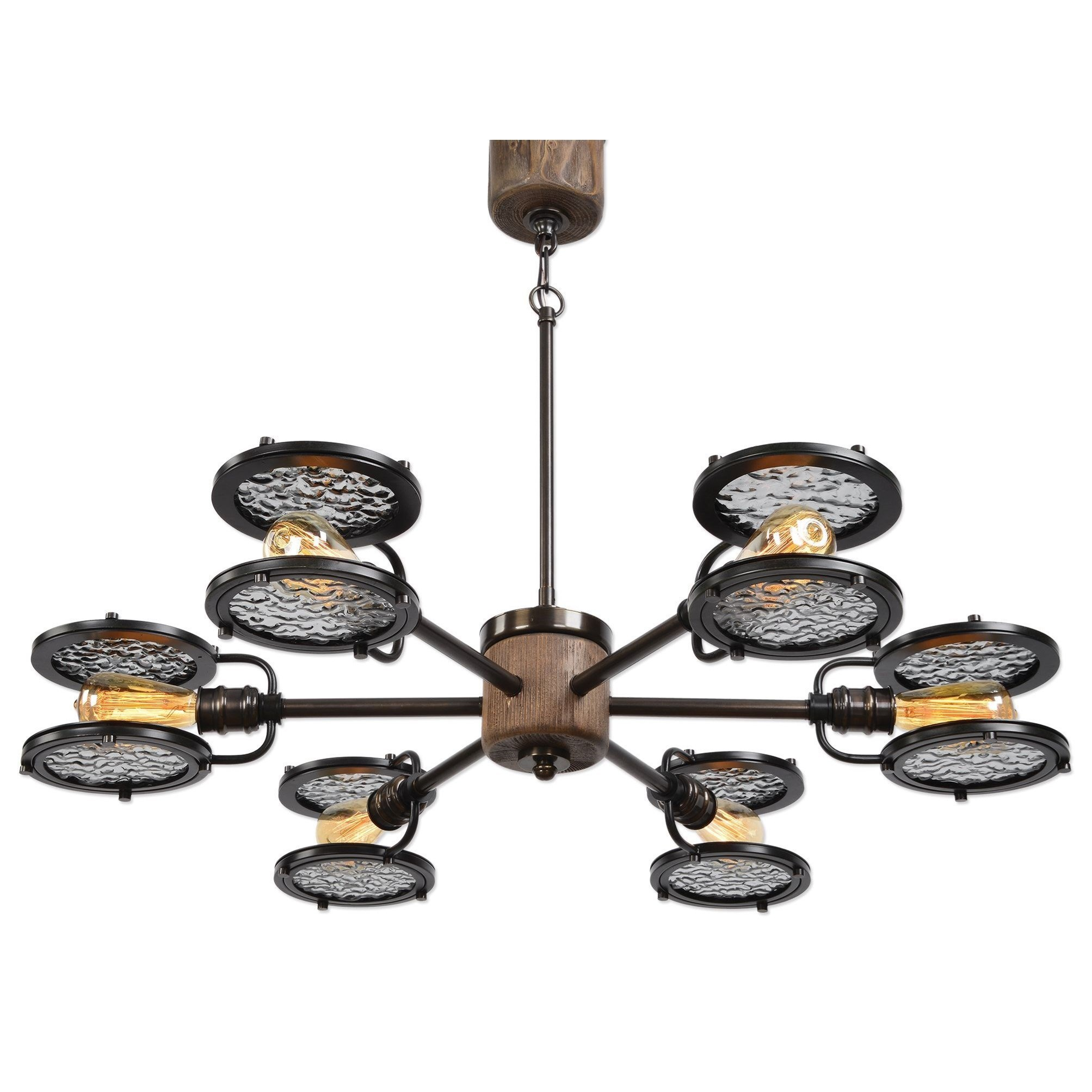 brass lighting fixtures. Uttermost Lighting FixturesGavia 6 Light Dark Brass Chandelier Fixtures L