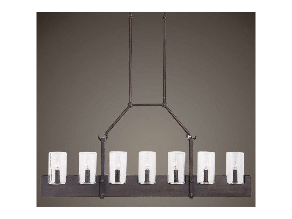 Lighting Fixtures Pendant Lights Pinecroft 7 Light Island Linear By Uttermost At Furniture Super Rochester Mn