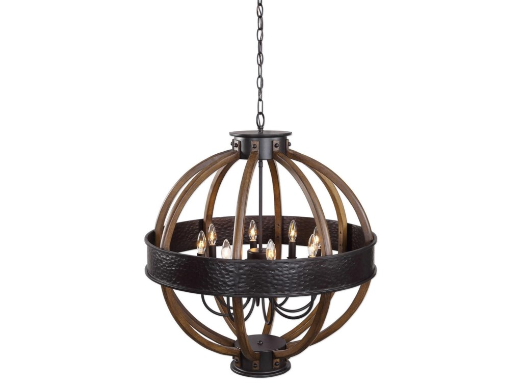 Uttermost lighting fixtures pendant lightsbowdon 8 light orb pendant