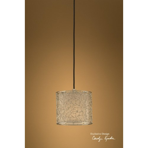 Uttermost Lighting Fixtures Brandon Silver 1 Light Mini Hanging Shade