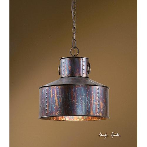 Uttermost Lighting Fixtures Giaveno 1 Light Pendant