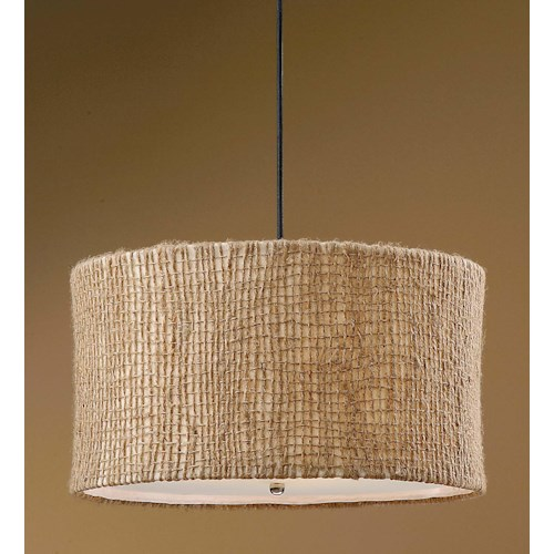 Uttermost Lighting Fixtures Burleson 3 Light Hanging Shade
