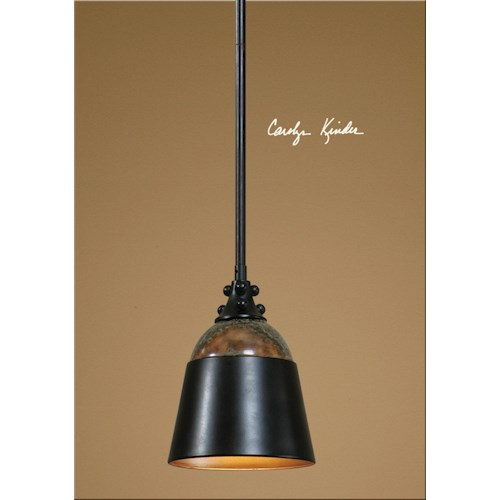 Uttermost Lighting Fixtures Madera 1 Light Mini Pendant