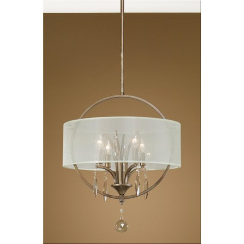 Uttermost Lighting Fixtures Alenya 4 Light Pendant