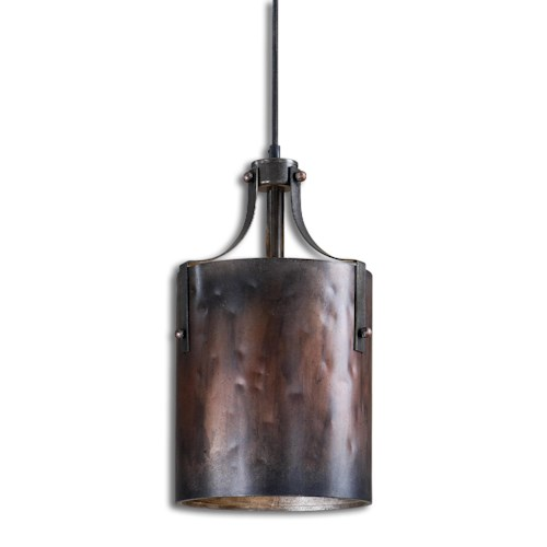 Uttermost Lighting Fixtures Akron 1 Light Copper Mini Pendant