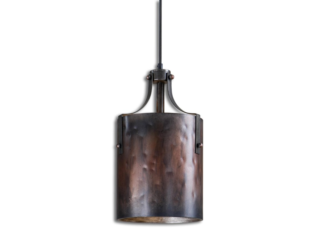 Uttermost Lighting Fixtures 21972 Akron 1 Light Copper Mini Pendant Hudson S Furniture Chandelier