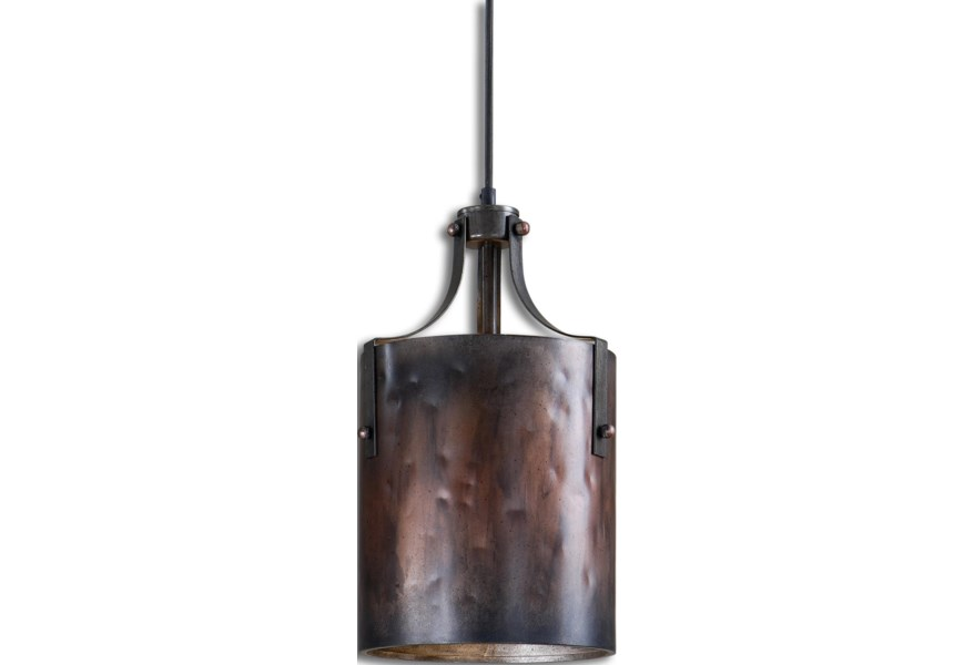 Lighting Fixtures Pendant Lights Akron 1 Light Copper Mini Pendant By Uttermost At Dunk Bright Furniture