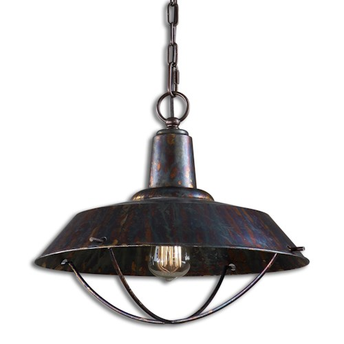 Uttermost Lighting Fixtures Arcada 1 Light Bronze Pendant