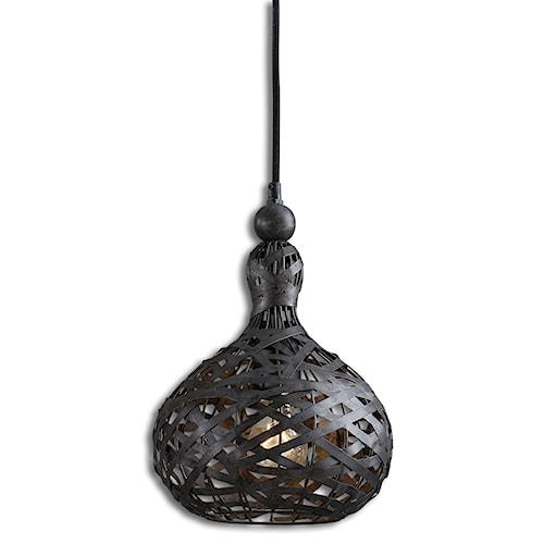 Uttermost Lighting Fixtures Alita Industrial 1 Light Mini Pendant