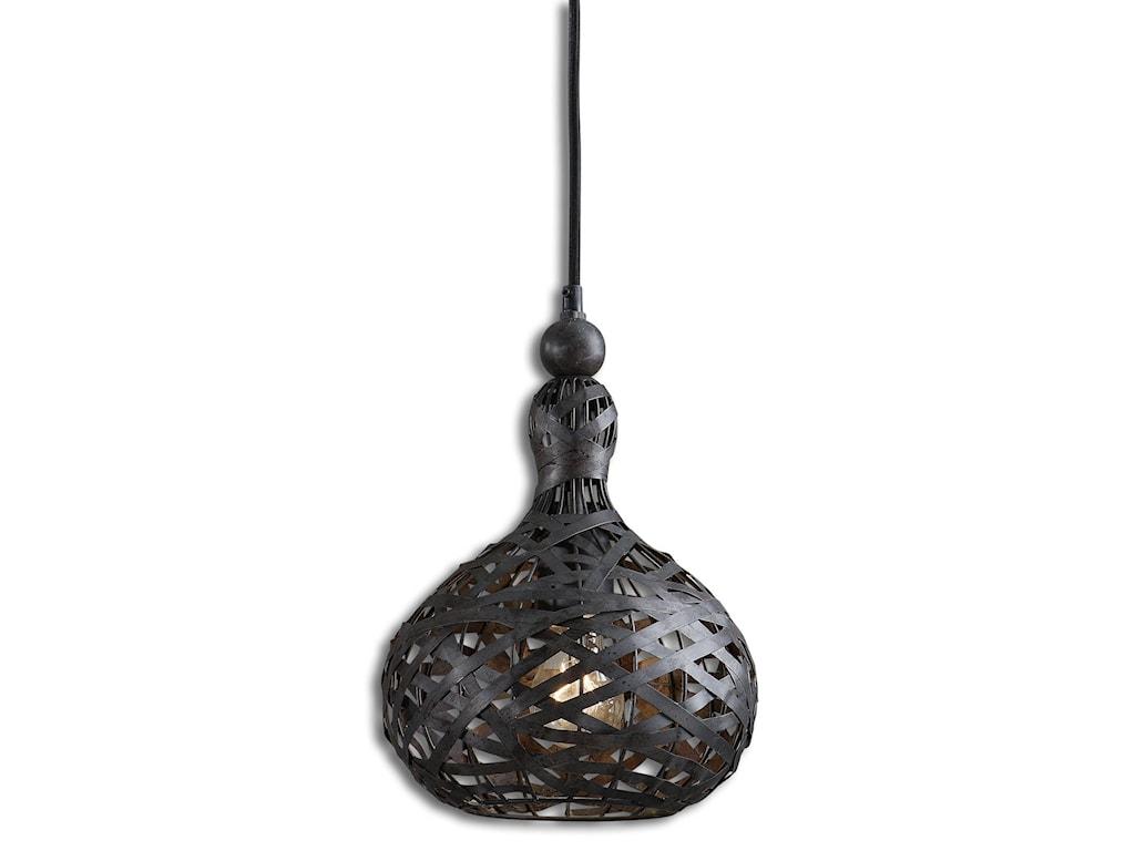 Uttermost lighting fixtures pendant lightsalita industrial 1 light mini pendant