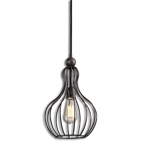Uttermost Lighting Fixtures Bourret 1 Light Pendant