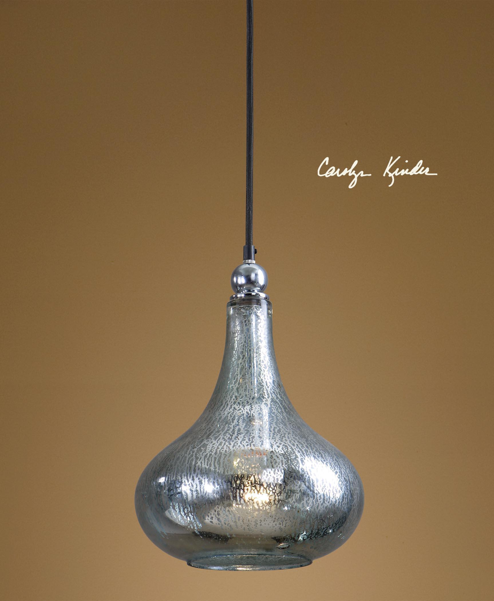 Uttermost 21856 Brandon Silver 1-Light Mini Hanging Shade 8