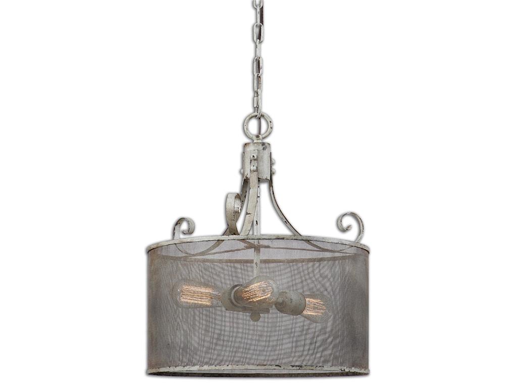 Lighting Fixtures Pendant Lights Pontoise 3 Light Drum By Uttermost At Hudson S Furniture