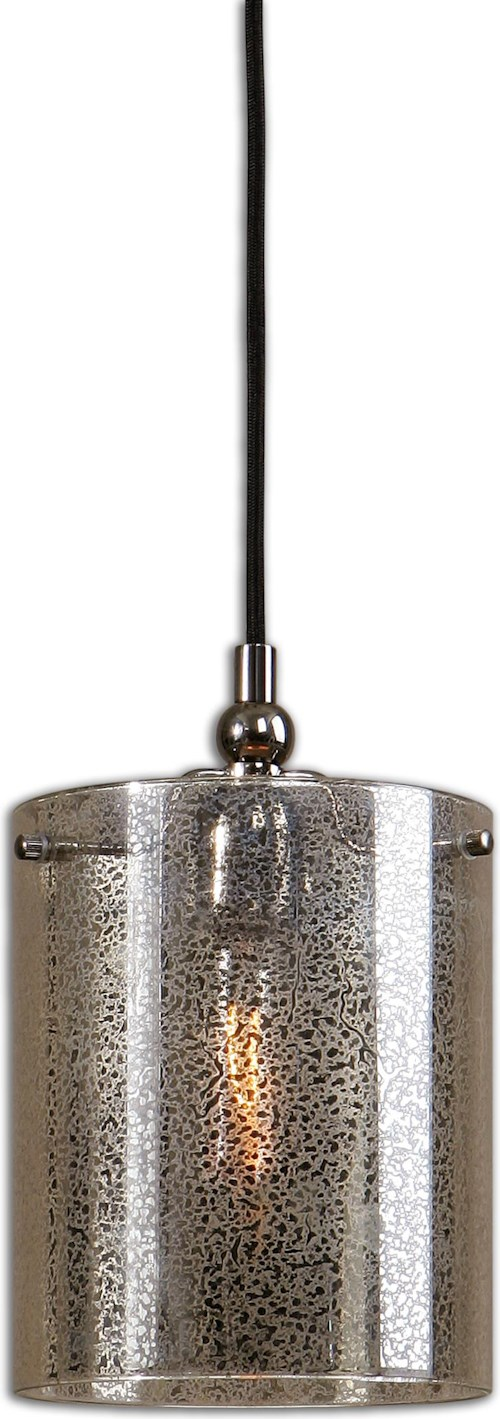 Uttermost Lighting Fixtures Mariano Mercury Glass Mini Pendant