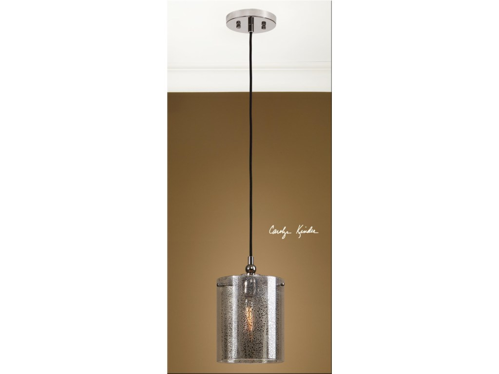 Uttermost Lighting Fixtures - Pendant LightsMariano Mercury Glass Mini Pendant